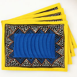 Placemat Ndebele Blu