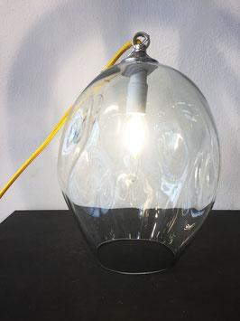 Lampada Piccola Trasparente, Filo Elettrico Giallo - Ngwenya Glass