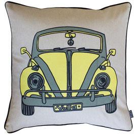 Cuscino Crema con Macchina Vintage - DT Design