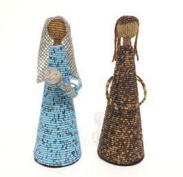 Maria e Giuseppe in Fil di Ferro e Perline