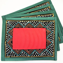 Placemat Ndebele Rosso