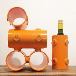 Engage Wine Rack componibile - Snapp Design - arancio
