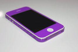 iPhone 4 / 4s - Carbonfolie Lila