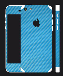 iPhone 5c Carbon Folie Hellblau