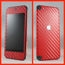 iPod Touch 5G. Carbon Folie Rot