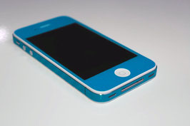 iPhone 4 / 4s - Carbonfolie Hellblau