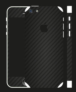 iPhone 5c Carbon Folie Schwarz