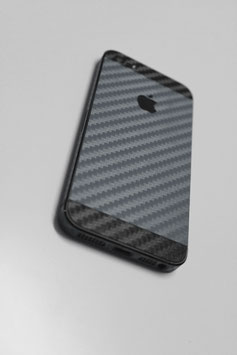iPhone 5 Carbon Folie Schwarz / Anthrazit