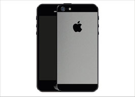 iPhone 5 SILBER Matt Folie
