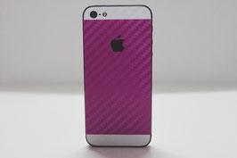 iPhone 5s Carbon Folie Weiß/Pink