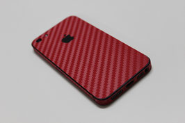 iPhone 5 Carbon Folie Rot