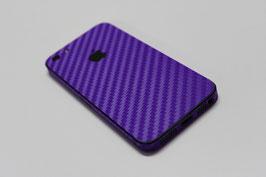 iPhone 5 Carbon Folie Lila
