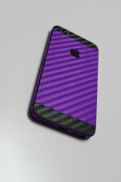 iPhone 5 Carbon Folie Schwarz/Lila