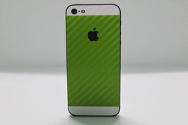 iPhone 5s Carbon Folie Weiß/Apfel Grün