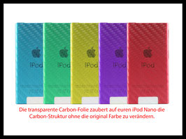 iPod Nano 7G. Carbon Folie Transparent