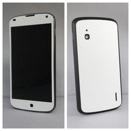 LG Google Nexus 4 Carbonfolie weiss