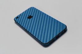 iPhone 5 Carbon Folie Hellblau
