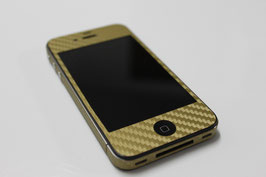 iPhone 4 / 4s - Carbonfolie gold
