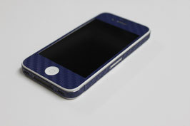 iPhone 4 / 4s - Carbonfolie blau