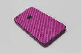 iPhone 5 Carbon Folie Pink