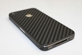iPhone 4 / 4s - Carbonfolie schwarz