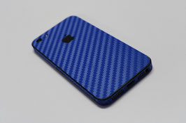 iPhone 5 Carbon Folie Blau metallic