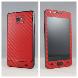 Samsung S2 Carbon Folie rot