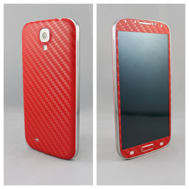 Samsung Galaxy S4 Carbonfolie Rot