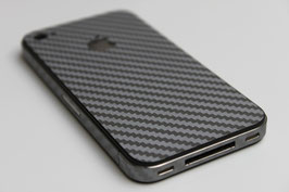 iPhone 4 / 4s - Carbonfolie silber