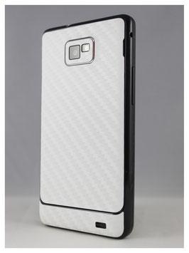 Samsung S2 Carbon Folie weiß