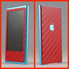 iPod Nano 7G. Carbon Folie Rot