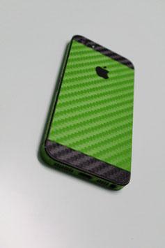 iPhone 5s Carbon Folie Schwarz/Apfel Grün