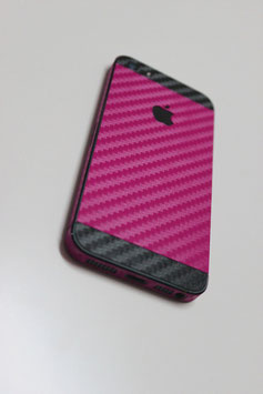 iPhone 5s Carbon Folie Schwarz/Pink