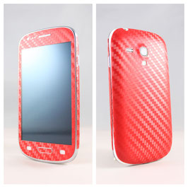 Samsung S3 Mini Carbon Folie Rot