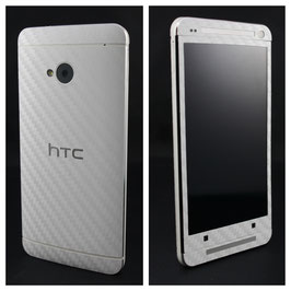 HTC One M7 Carbonfolie weiss