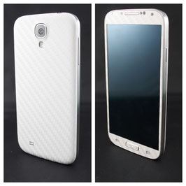 Samsung Galaxy S4 Carbonfolie Weiss