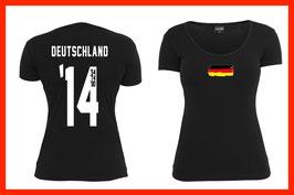 WM Shirt - Titel Jahre - Flag (Frauen)