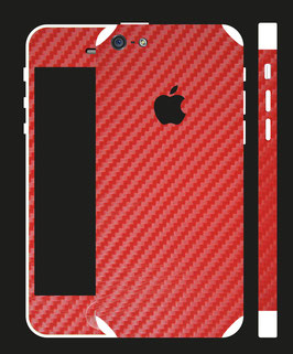 iPhone 5c Carbon Folie Rot