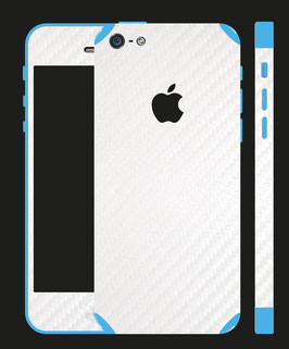 iPhone 5c Carbon Folie Weiss