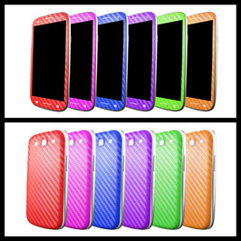 Samsung S3 Carbon Folie 2tlg.