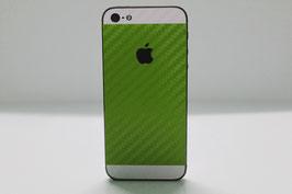 iPhone 5 Carbon Folie Weiß/Apfel Grün