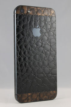 iPhone 5 Aligator Folie schwarz/braun