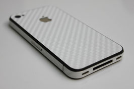 iPhone 4 / 4s - Carbonfolie weiß