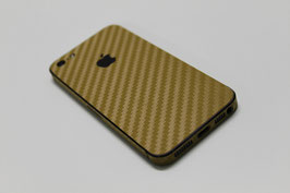 iPhone 5s Carbon Folie Gold