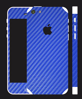 iPhone 5c Carbon Folie Mittelblau
