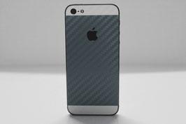 iPhone 5s Carbon Folie Weiß/Silber