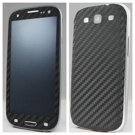Samsung S3 Carbon Folie Schwarz