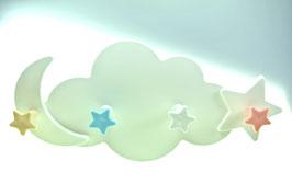 Kindergarderobe Wolke Mond und Sterne