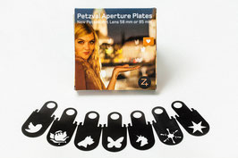 Petzval Steckblende Collection (7er-Set) Petzval Aperture Plate Waterhouse Metal Set of 7 for Petzval Art Lens 58mm or 85mm