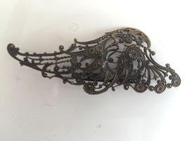 Nr 8907 vintage broche 9 cm x 3,5 cm